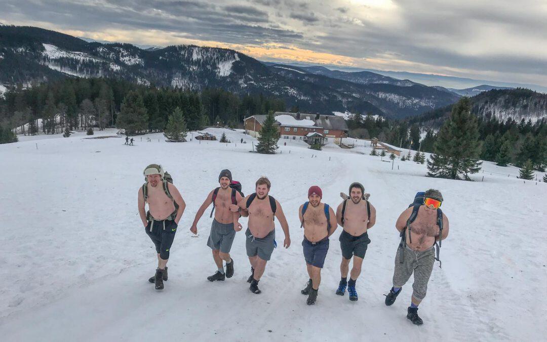 Topless on the Feldberg in winter